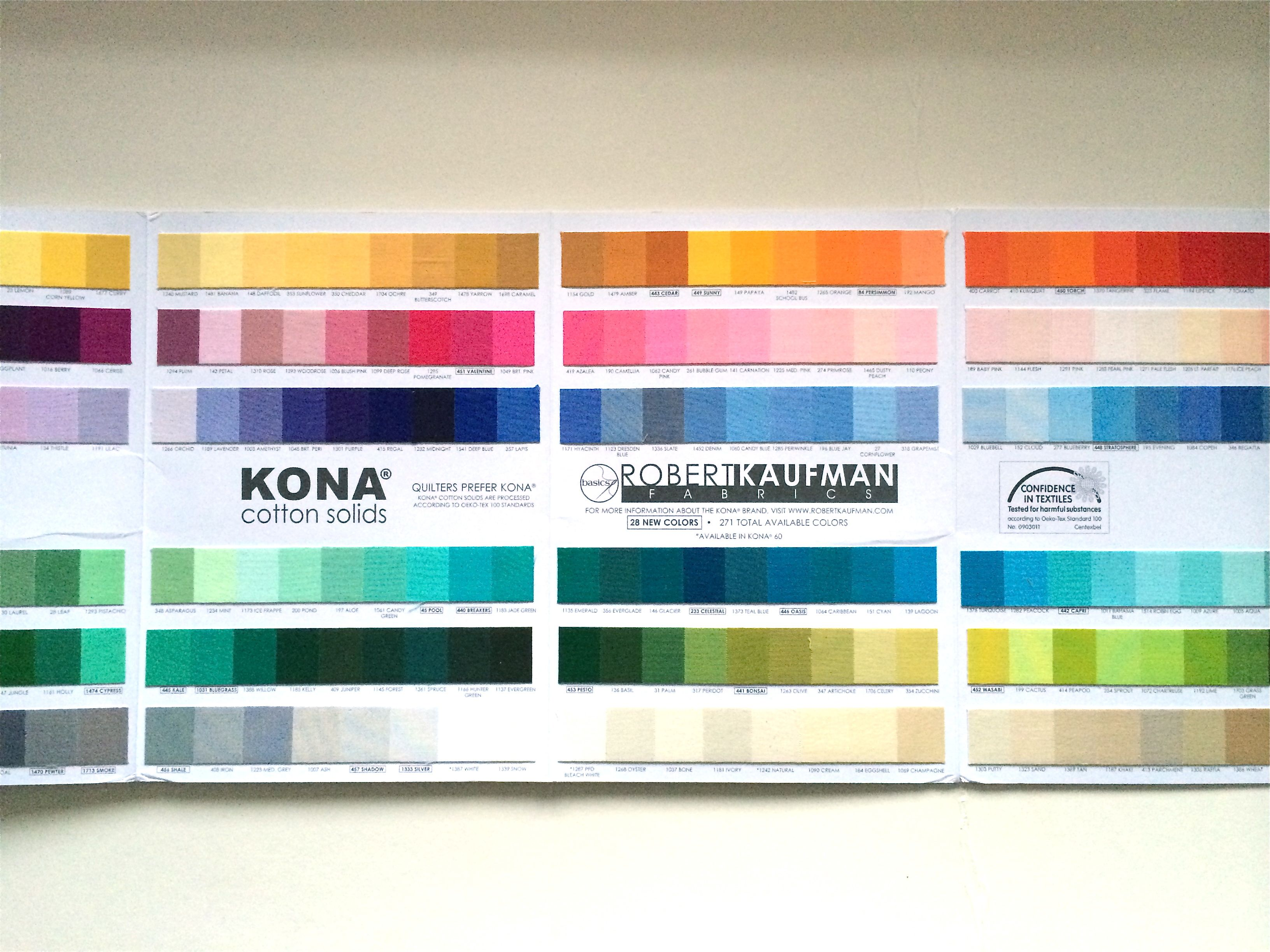 Colour lots of it tree fall colourcard theres no fighting it a kona cotton colour chart nvjuhfo Images